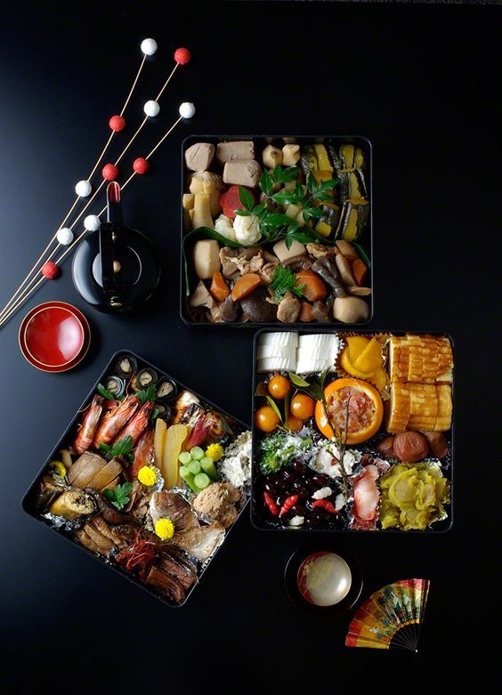 (3) Japanese Culture Osechi: The Elegance of the New Year Table (Photos)  おせち料理   Japanese food   Pinterest