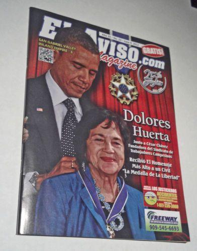 Barack-Obama-Dolores-Huerta-UFW-El-Aviso-com-Magazine-2012-Spanish-Espanol