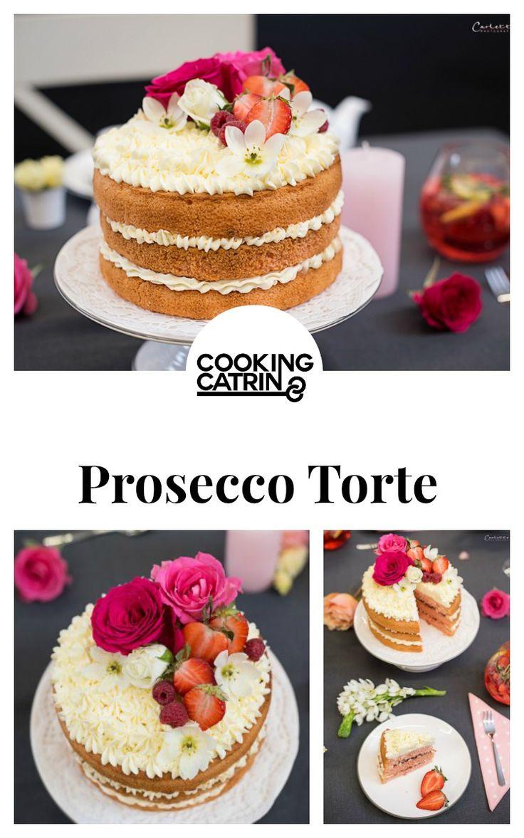 Prosecco Torte, Muttertags Torte, Prosecco Rezept, Muttertags Rezept, Muttertag, Torte, Proseccokuchen, Prosecco Naked Cake, Naked Cake,mothers day, Diy, deko, Dakoration, Muttertagstisch, styletisch, mothers day cake, champagne cake, prosecco cake...http://www.cookingcatrin.at/mama-ueberraschen-rotkaeppchen-fruchtsecco/