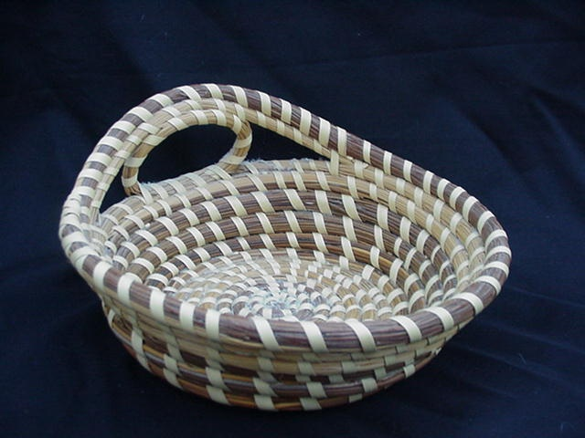 Handmade Baskets In South Carolina : Vintage hand made south carolina low country sea grass