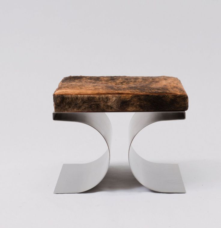 Michael Boyer; Stainless Steel U0027Xu0027 Stool For Ugine Gueugnon, ...