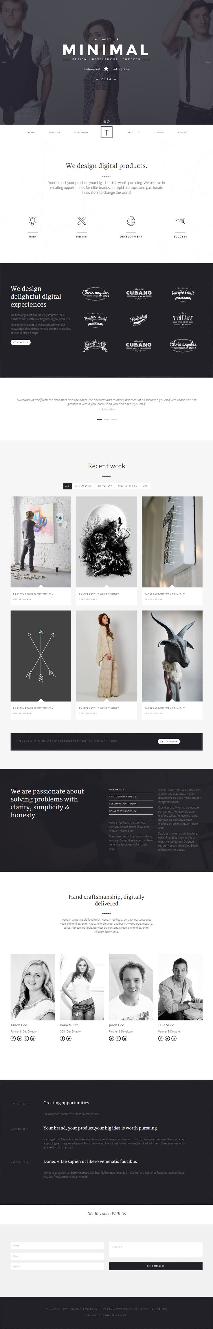 T-ONE Clean & Minimal WordPress Theme on Behance