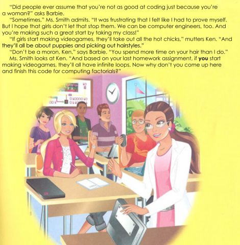 """Female PhD student in computing re-wrote that horrible """"barbie computer engineer"""" book and made it awesome."""
