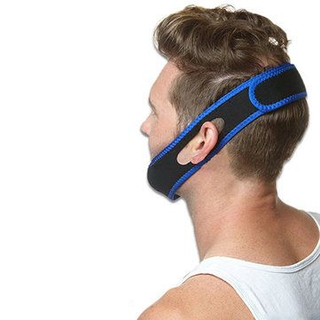 Snore Stopper Termination Anti ronco Straps Mouth Guard Chin Suporte Corretivo Bandage