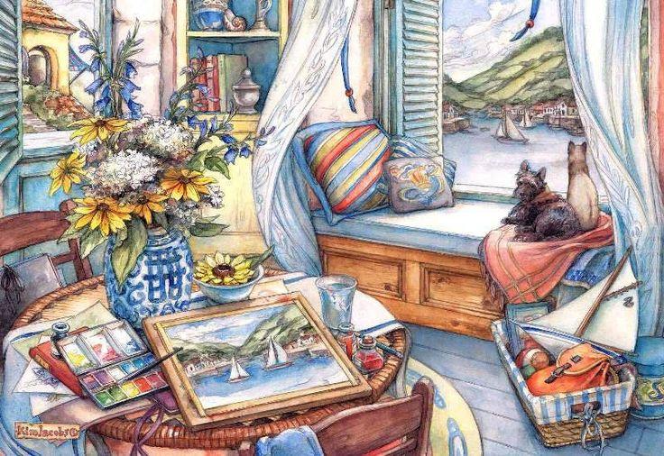 Домашний уют картинки рисованные, катерину днем рождения