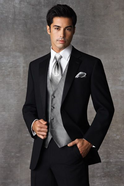 Black Wedding Tuxedos for Men | Joseph Abboud Ruby Black Prom Tuxedo