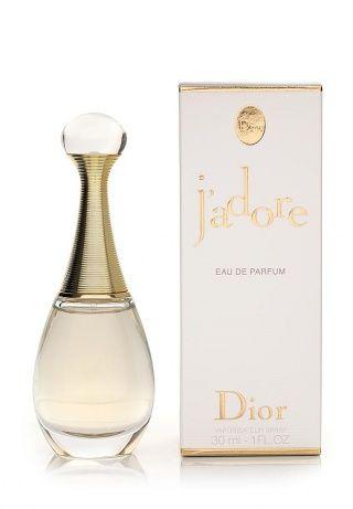 Парфюмированная вода Christian Dior J'adore. Начальные ноты: мандарин, дыня, персик, груша, бергамот. Ноты «сердца»: роза, фиалка, ландыш, фрезия. Шлейф: ежевика, мускус, ваниль, кедр, сандал. Объем: 30 мл. http://j.mp/1rQbaog