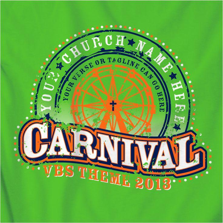 Carnival VBS t-shirt designs 2013.