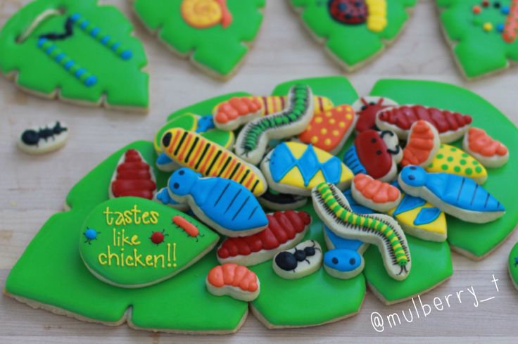Disney Lion King birthday party cookies from the grub scene. Also great for bug, jungle, or garden party cookies.