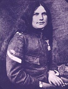 Milunka Savić (Serbian: Милунка Савић, 1888 – 5 October 1973) was a Serbian war heroine who fought in the Balkan Wars and in the First World War. She is recognised as the most-decorated female combatant in the entire history of warfare. She was wounded no fewer than nine times during her term-of-service.