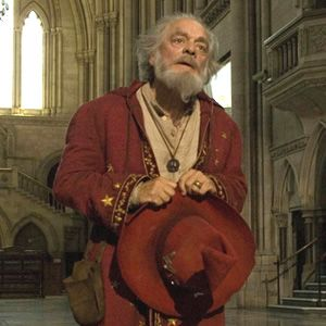 David Jason as Rincewind the The Colour of Magic film.