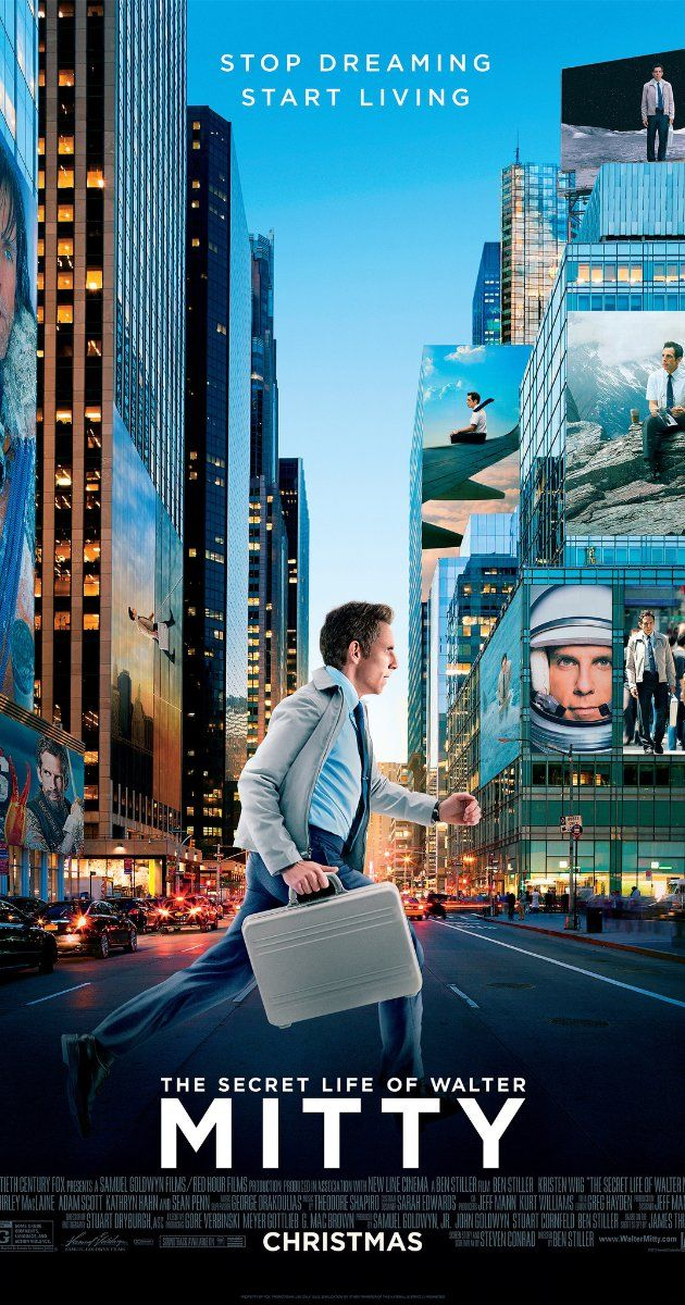 Directed by Ben Stiller.  With Ben Stiller, Kristen Wiig, Jon Daly, Kathryn Hahn. When his job along with that of his co-worker are threatened, Walter takes action in the real world embarking on a global journey that turns into an adventure more extraordinary than anything he could have ever imagined.