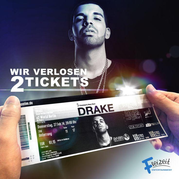 Wollt ihr kostenlos auf ein Drake Konzert? Sichert euch zwei Tickets für eines der drei Deutschland Konzerte in Berlin!   https://www.facebook.com/FreizeitEntertainment/app_1390770631165173