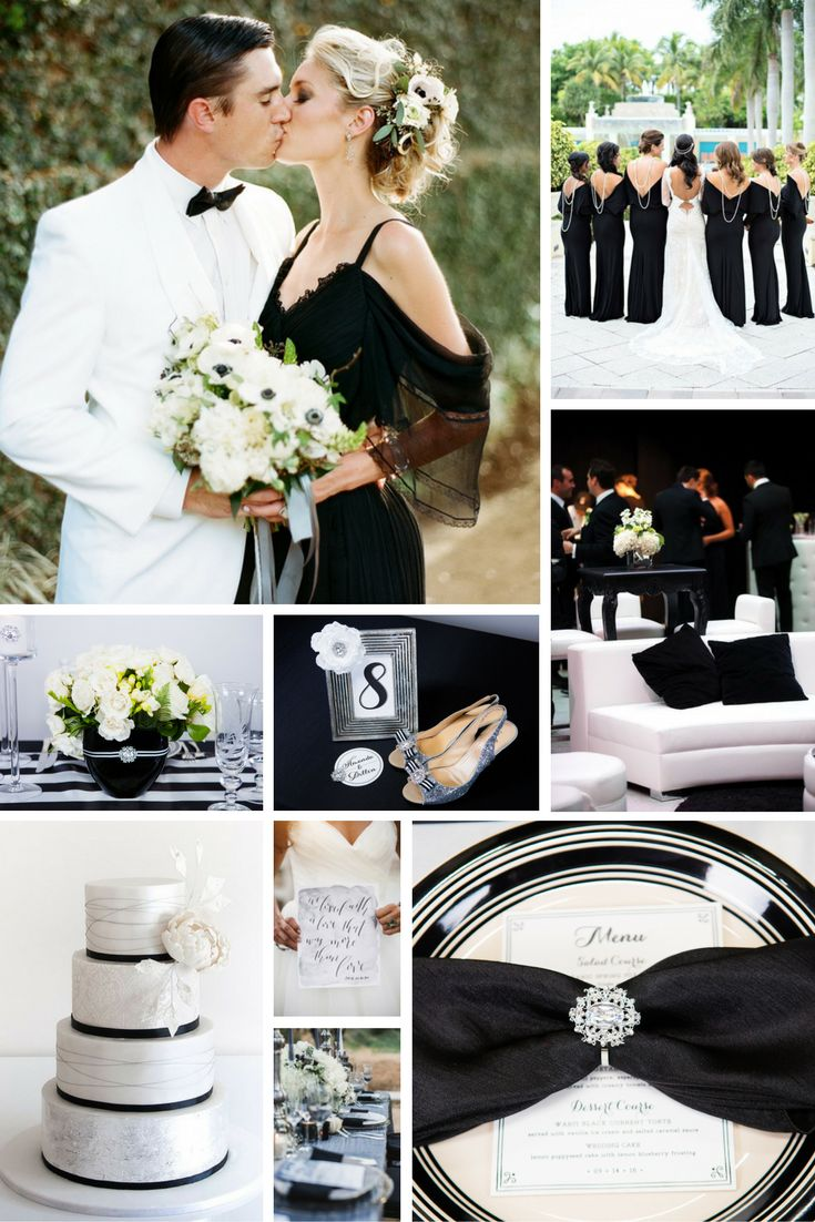 75 best Black and White Wedding Colors images on Pinterest | Color ...
