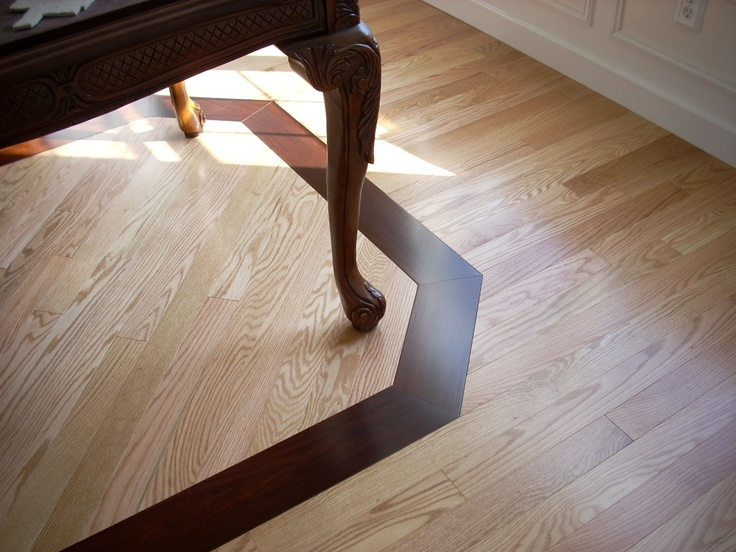 Mirage Red Oak Natural Flooring With Dark Stained Oak