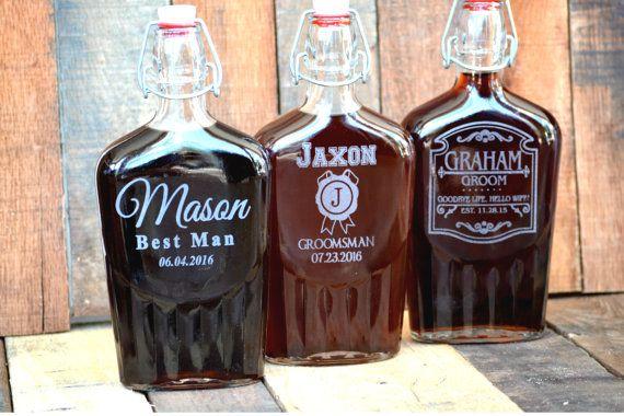 Set of 6 Groomsmen Gift Flask Gift Set  by UrbanFarmhouseTampa
