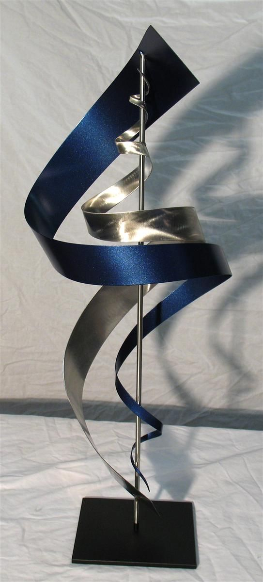Modern Metal Art Sculpture SS1 Blue. Love this! Contemporary metal table sculpture.