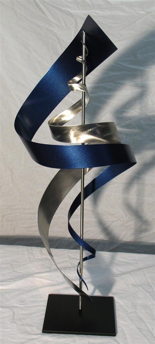 Modern Metal Art Sculpture SS1 Blue. Love this! Contemporary metal table sculpture.