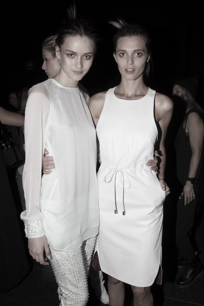 Models backstage at Bec & Bridge's 'CHROMOLUX' show for MBFWA '13.