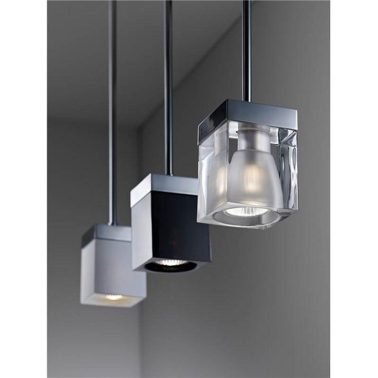 Track lighting Suspension CUBETTO   Blanche / Fabbian