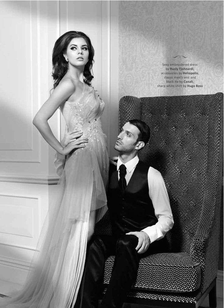 Dress by Rusly Tjohnardi Atelier Accessories: Heliopolis by Norman Ang Photo by Mario The Nine www.mariothenine.com Stylist: A.J. Assistant Stylist: Asti Tiara Makeup and Hair: Nuke Aldira Models: Alice (Dazzle Inc); Davide (F Models International) Location: Ritz-Carlton Pacific Place As seen on Maxx-Brides magazine #media #magazine #blackwhite #fashion #couture #dress #vintage #mood #weddinggown #hautecouture