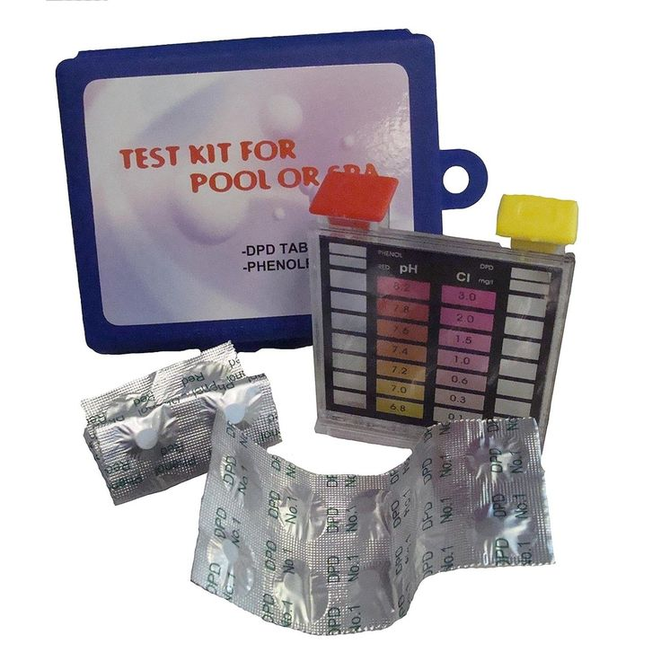 Deluxe 2-Way Swimming Pool (Blue) Test Tablet Kit with Case - Tests pH and Chlorine