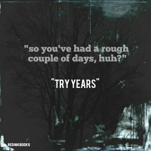 "'so you've had a rough couple of days, hug?"" ""Try years"" 
