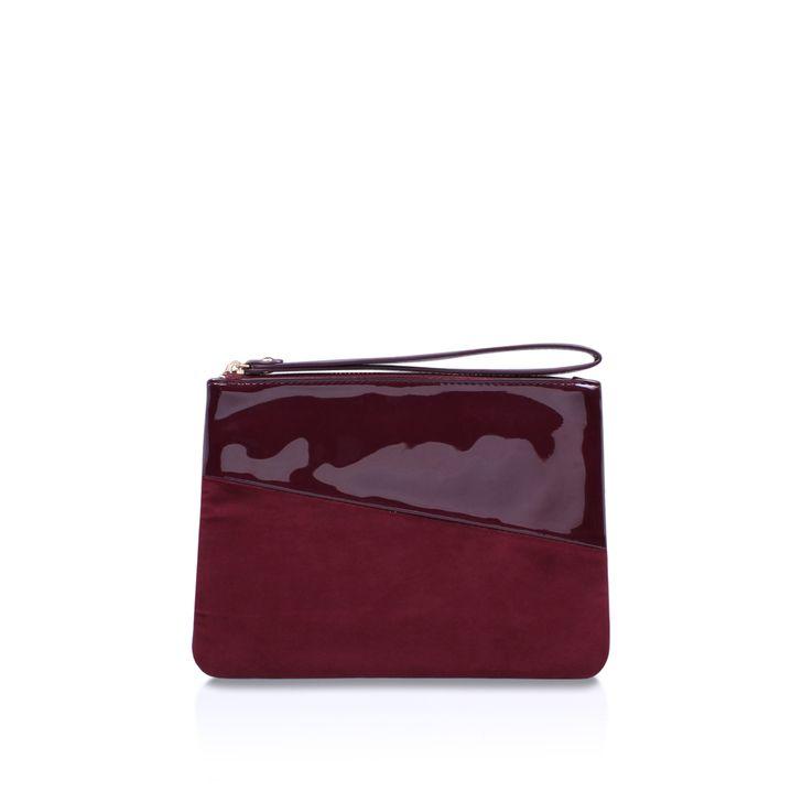 Tabby Wine Clutch Bag By Miss KG | Kurt Geiger