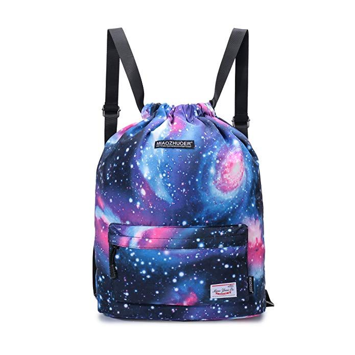 8a1941c609 Yinjue College School Daypack Daily Backpack Drawstring Backpack Bulk Sport  Gym Sack for Women Men Yoga Beach Bag Review