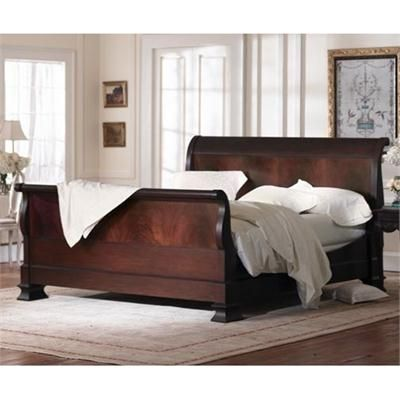 Hamilton Sleigh Bed- Flame Mahogany from Charles P. Rogers