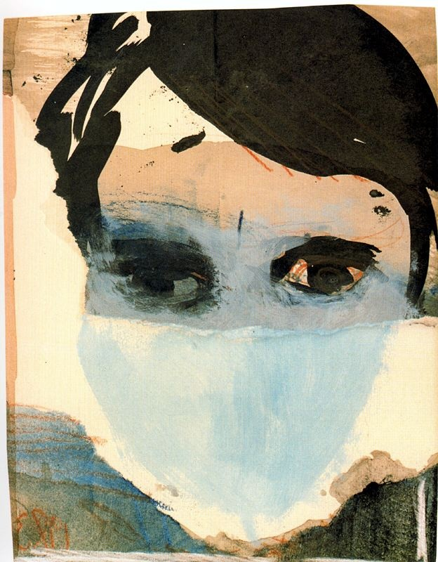 'Erik Andriesse' - 1980 - by Marlene Dumas (South African, b. 1953) - @~ Mlle