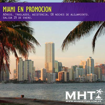 Viaja a Miami y disfruta de un verano único en sus playas. Salida 29 de enero.