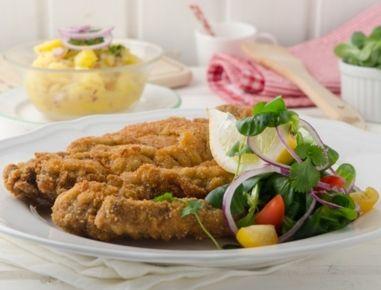 Altwiener+Backfleisch+mit+Erdäpfelsalat
