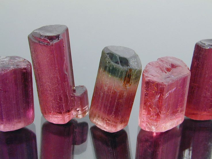 Rough pink and rubellite tourmaline