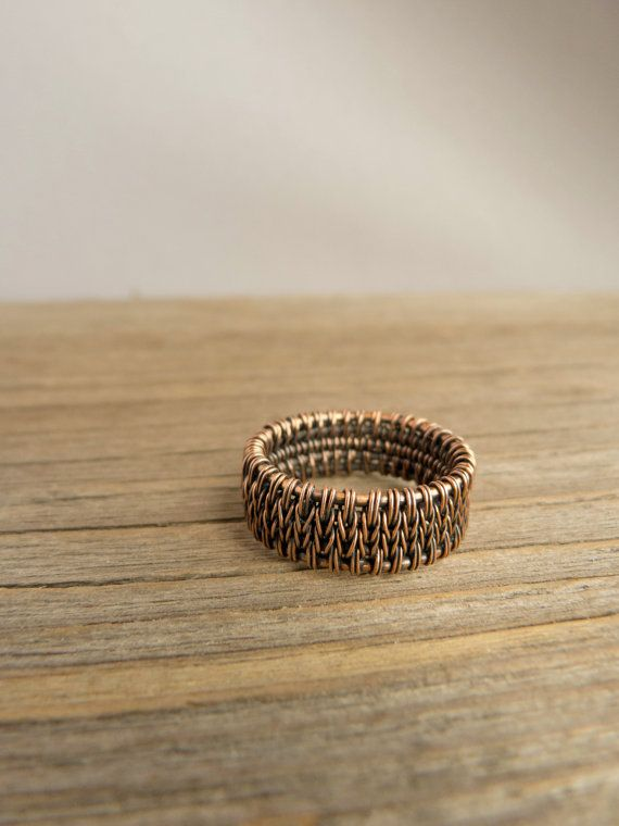 Mens copper ring  Gift for him by UrsulaJewelry on Etsy