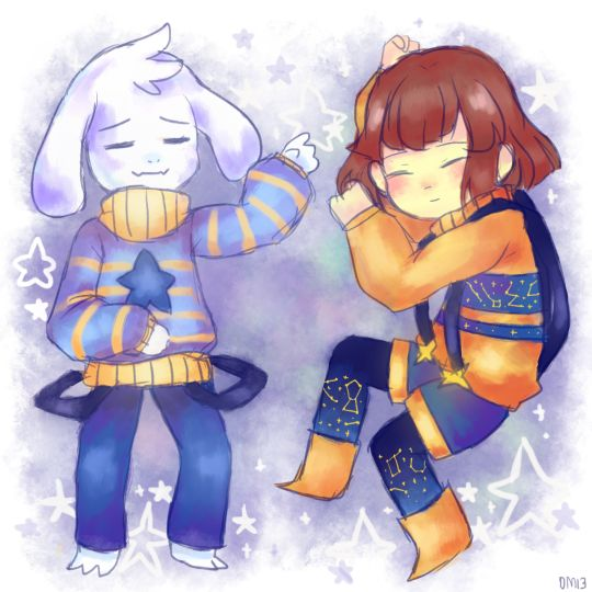 Frisk Sans And Chara Undertale Asriel And