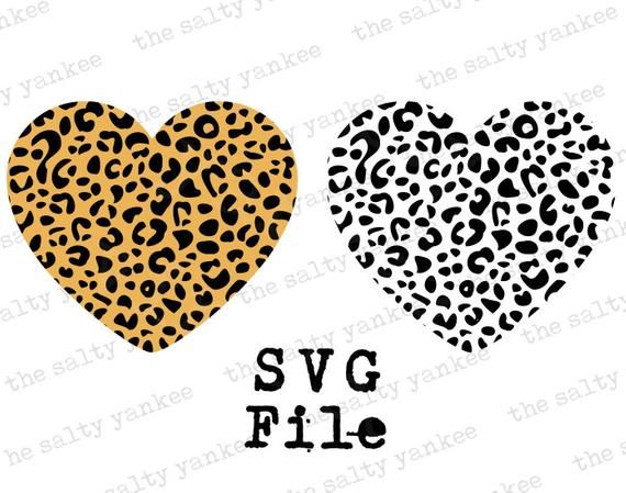 Heart Silhouette Leopard Cheetah Print Animal Print Vector Svg File Download For Cricut Vinyl And Mo In 2020 Silhouette Cameo Crafts Print Cheetah Print