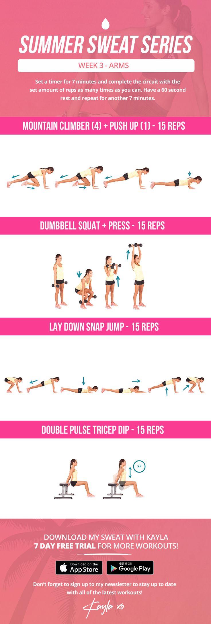summer sweat series week 3 arms