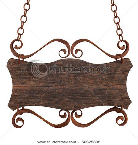 antique wooden sign