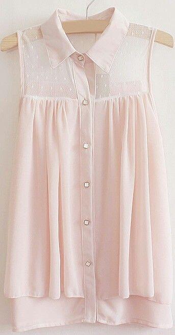 I like the pastel pink sleeveless top.