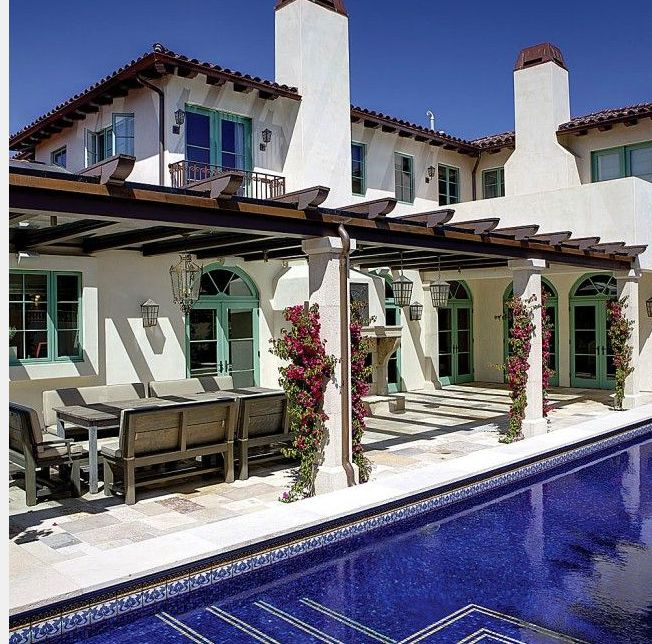 Great Symmetry With Architectural Designs Mediterranean: Classic Spanish Blue Windows