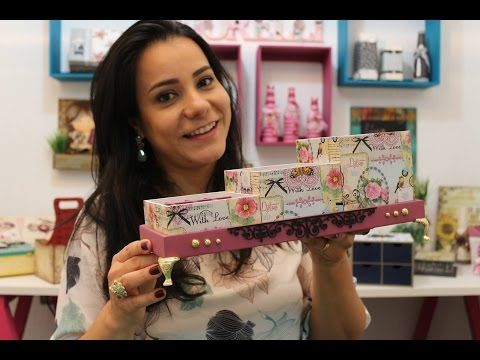 DIY   Faça Você Mesmo  Decoupage com Guardanapo Livia Fiorelli   Life Artesanato - YouTube