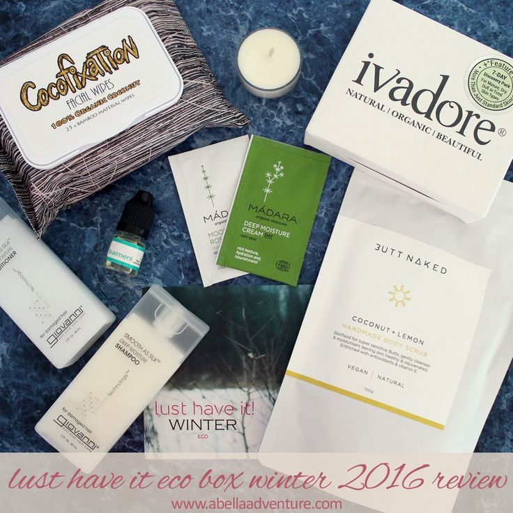 Lust Have It Eco Box Winter 2016 Review | Use code ECOBELLA for $10 off your first box | @lusthaveit | A Bella Adventure | http://www.abellaadventure.com/beauty/lust-have-it-eco-box-winter-2016-review/