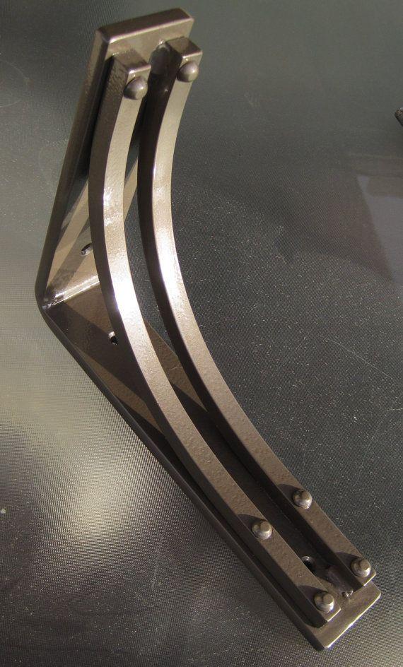 Wrought Iron Steel Corner Bracket / Corbel  by PrescottBlacksmith, $67.00