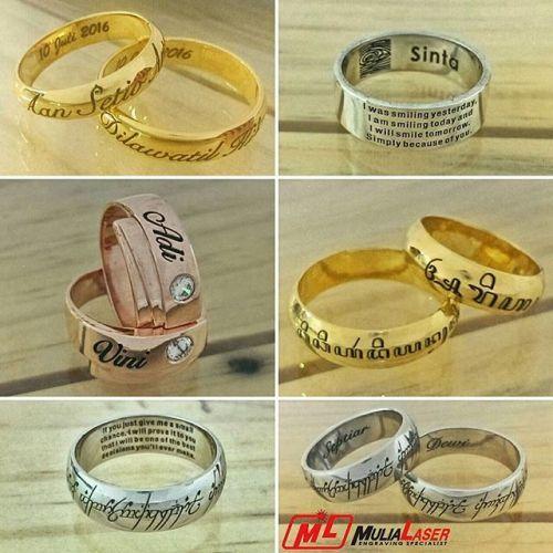 Foto cincin & perhiasan pernikahan oleh MuliaLaser