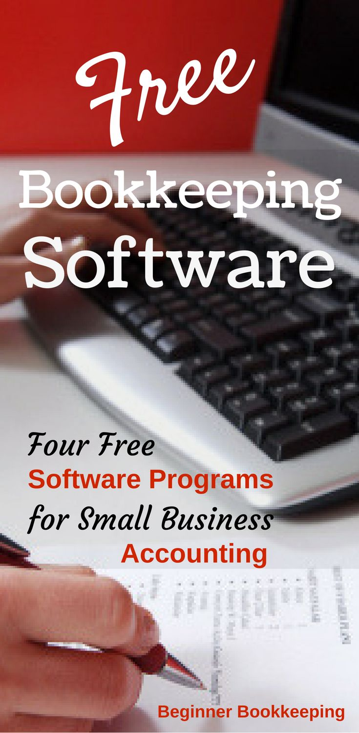 Four free bookkeeping software programs for small business accounting. | Professional web design services at http://www.techhelp.ca