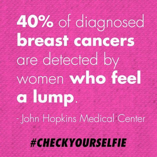 Always always check your self!  #BCA #KeepaBreast #checkyourselfie