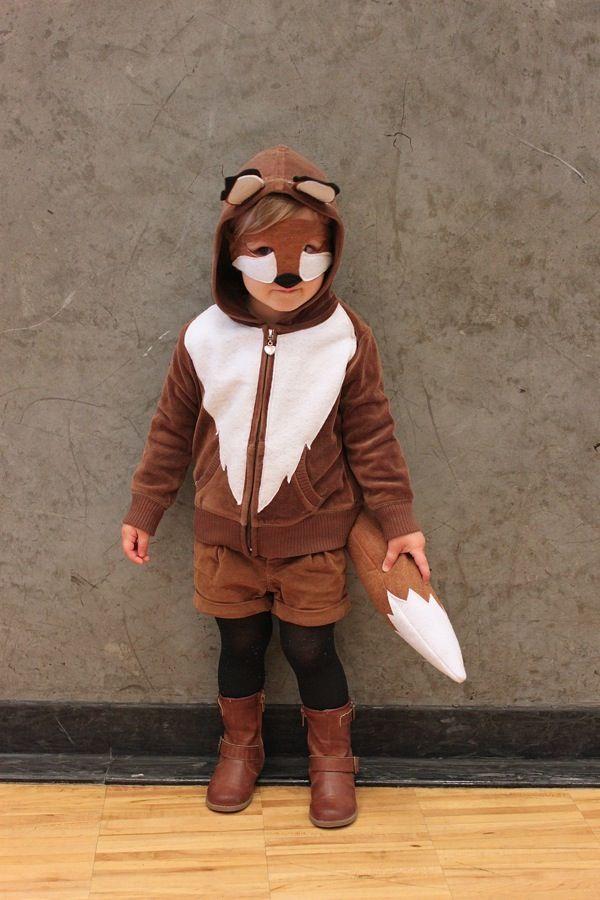 Brown Fox Costume by mamapapabubba: Made from a hoodie. #Kids #Halloween #Costume #Fox
