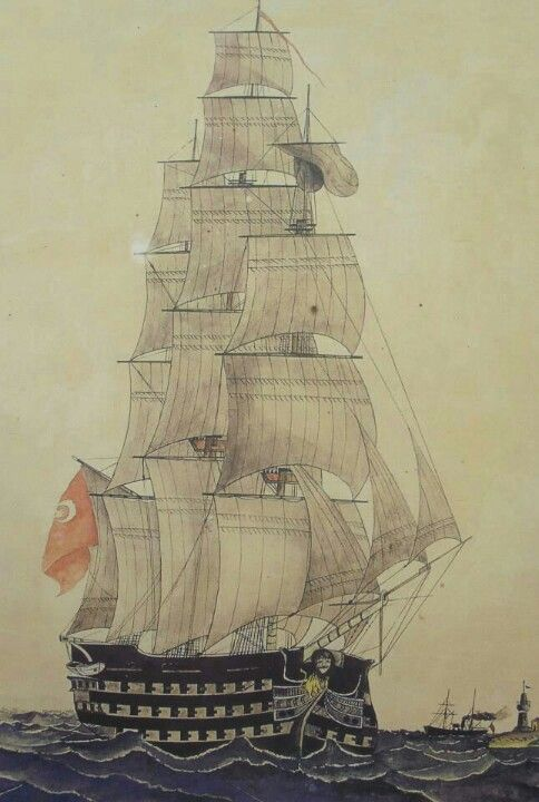 Galleon Mahmmdiye , the largest ship of the Ottoman Empire