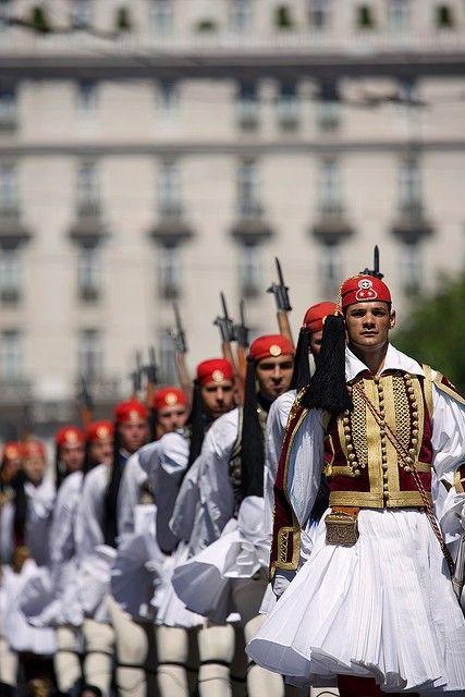 Presidential Guard (Evzones) In Athens, Greece